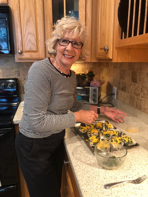 Cathy makes oysters rockefeller