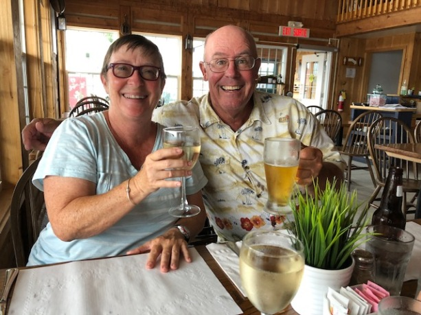 Enjoying a rainy day with Ray and Caryl. 63 and going strong.
